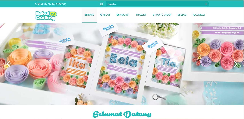 Bakul Quilling Website Industri Kerajinan Menggulung